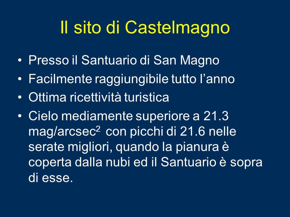 Il sito di Castelmagno Presso il Santuario di San Magno Facilmente raggiungibile tutto lanno Ottima ricettività turistica Cielo mediamente superiore a