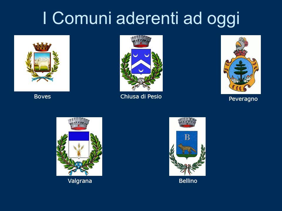 I Comuni aderenti ad oggi BovesChiusa di Pesio Peveragno ValgranaBellino