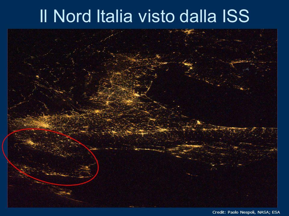 Il Nord Italia visto dalla ISS Credit: Paolo Nespoli, NASA; ESA