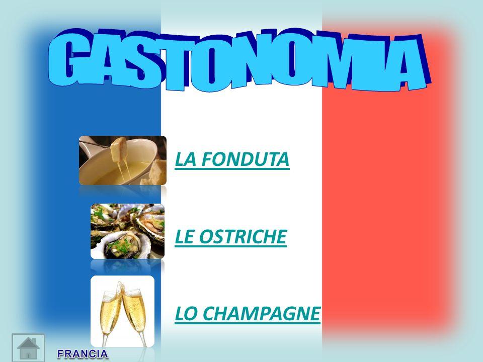 LA FONDUTA LE OSTRICHE LO CHAMPAGNE