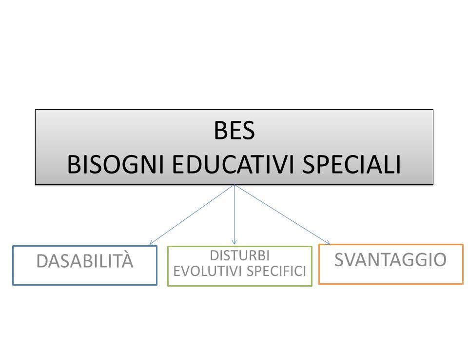BES BISOGNI EDUCATIVI SPECIALI DASABILITÀ DISTURBI EVOLUTIVI SPECIFICI SVANTAGGIO