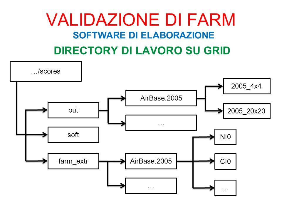 DIRECTORY DI LAVORO SU GRID …/scores out soft farm_extrAirBase.2005 … NI0 CI0 … AirBase.2005 … 2005_4x4 2005_20x20 VALIDAZIONE DI FARM SOFTWARE DI ELA