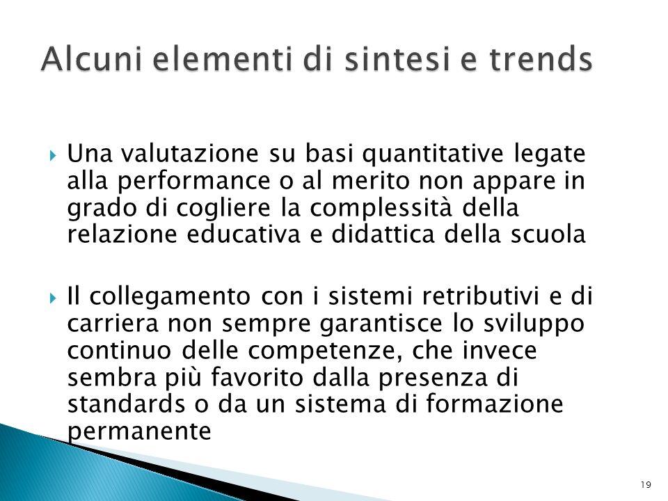 Una valutazione su basi quantitative legate alla performance o al merito non appare in grado di cogliere la complessità della relazione educativa e di