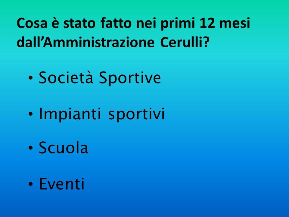 Cosa è stato fatto nei primi 12 mesi dallAmministrazione Cerulli.