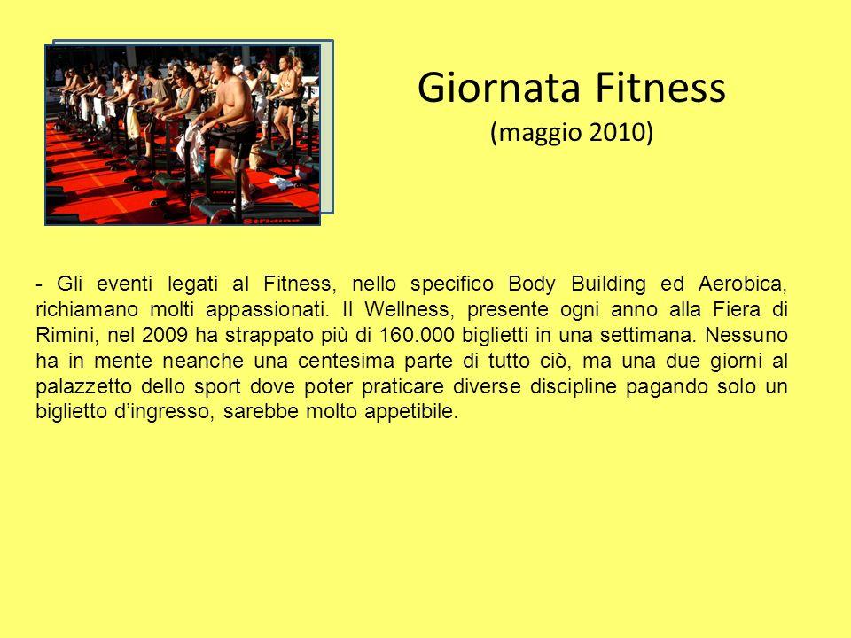 Giornata Fitness (maggio 2010) - Gli eventi legati al Fitness, nello specifico Body Building ed Aerobica, richiamano molti appassionati.