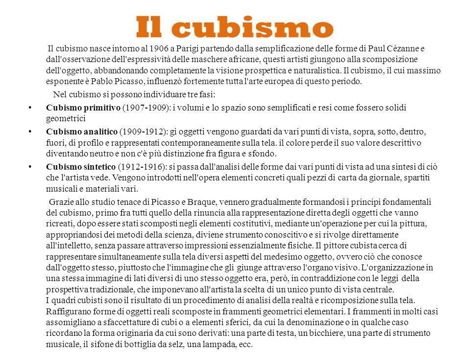 PABLO PICASSO (Cubismo)