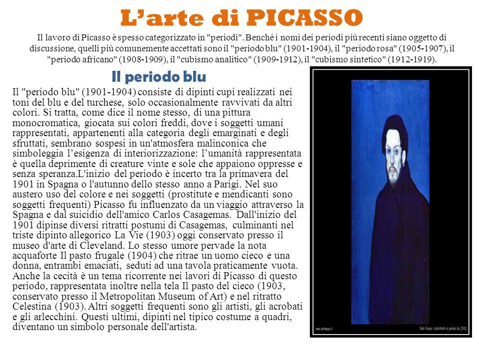 La vita di PICASSO Pablo Picasso nacque a Málaga nel 1881, in Spagna, primogenito di José Ruiz y Blasco e María Picasso y López che aveva ascendenze,