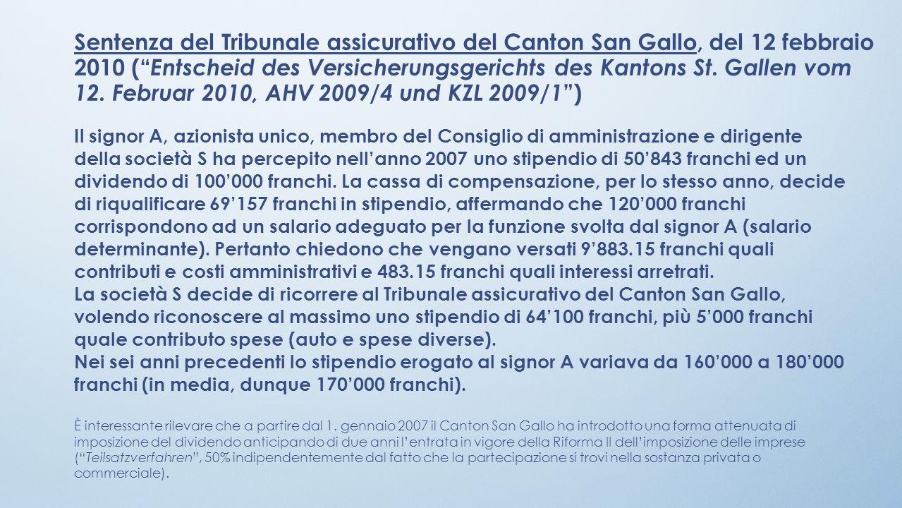 Sentenza del Tribunale assicurativo del Canton San Gallo, del 12 febbraio 2010 ( Entscheid des Versicherungsgerichts des Kantons St. Gallen vom 12. Fe