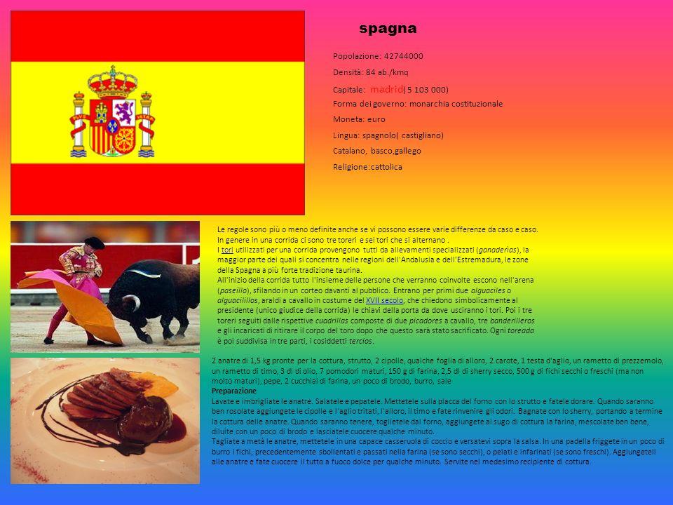 spagna Popolazione: 42744000 Densità: 84 ab./kmq Capitale: madrid ( 5 103 000) Forma dei governo: monarchia costituzionale Moneta: euro Lingua: spagno