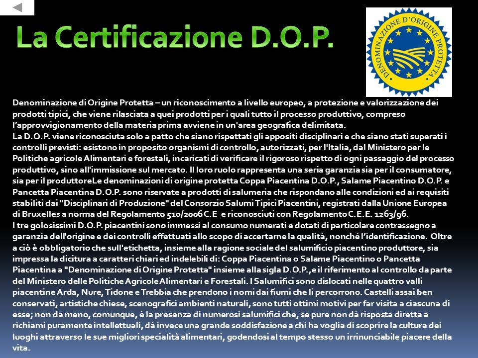 Etichetta della Coppa Piacentina D.O.P.