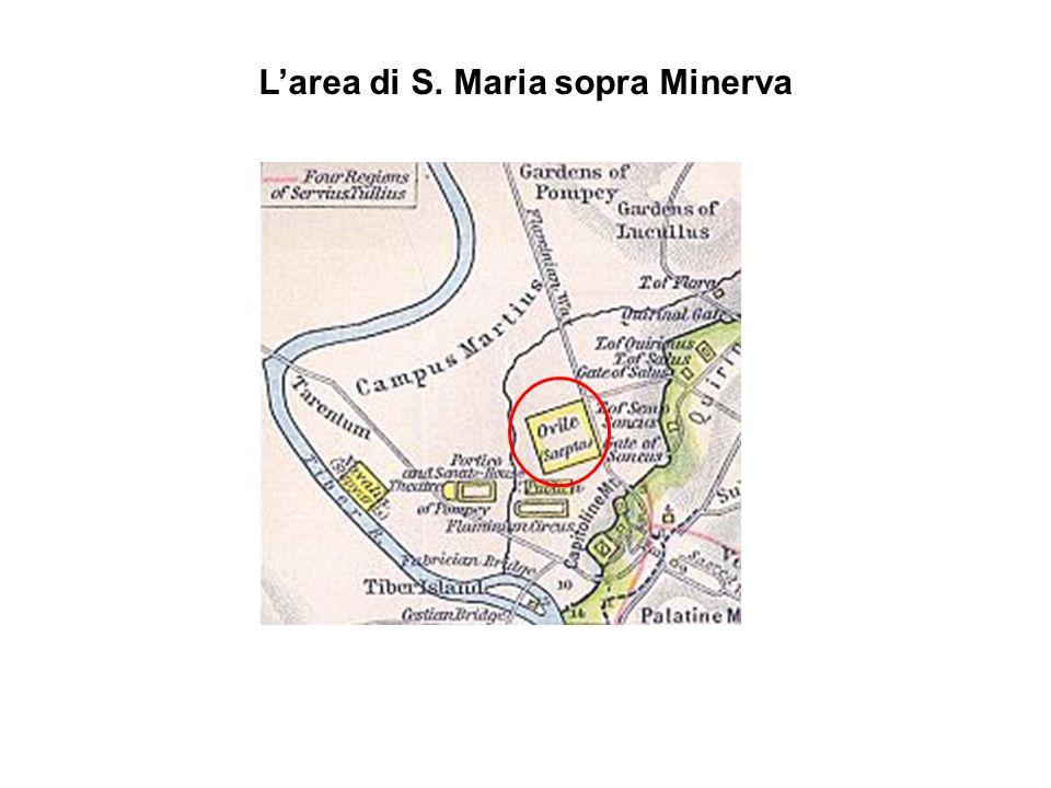 Larea di S. Maria sopra Minerva