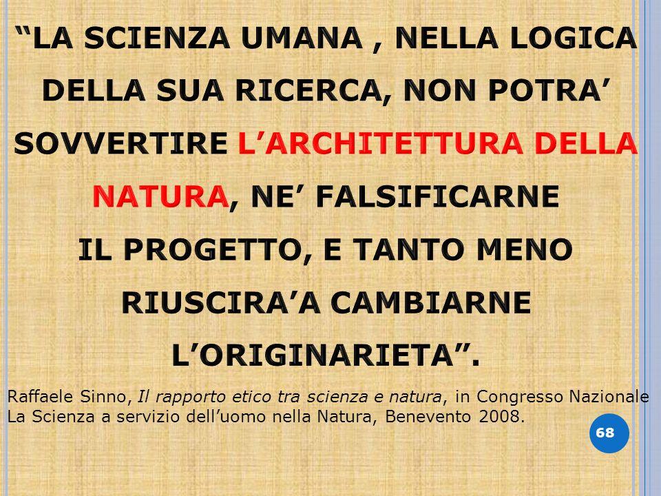 68 Raffaele Sinno, Il rapporto etico tra scienza e natura, in Congresso Nazionale La Scienza a servizio delluomo nella Natura, Benevento 2008.