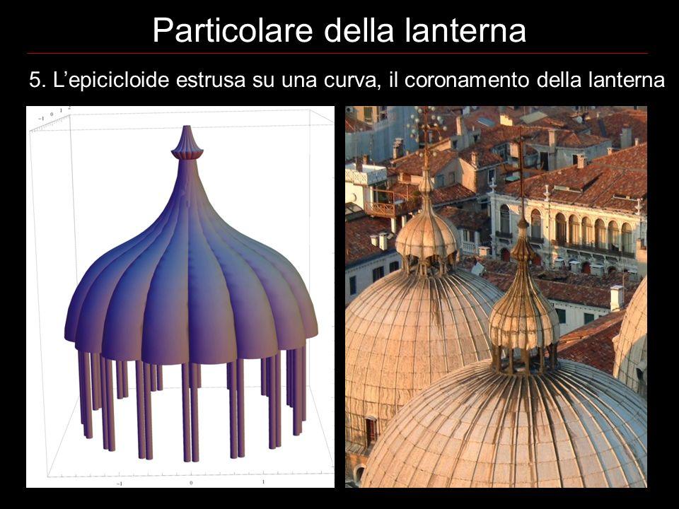 5. Lepicicloide estrusa su una curva, il coronamento della lanterna Particolare della lanterna