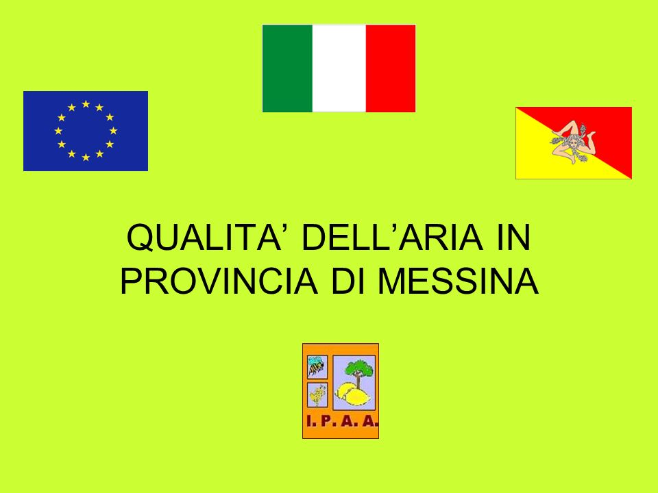 QUALITA DELLARIA IN PROVINCIA DI MESSINA