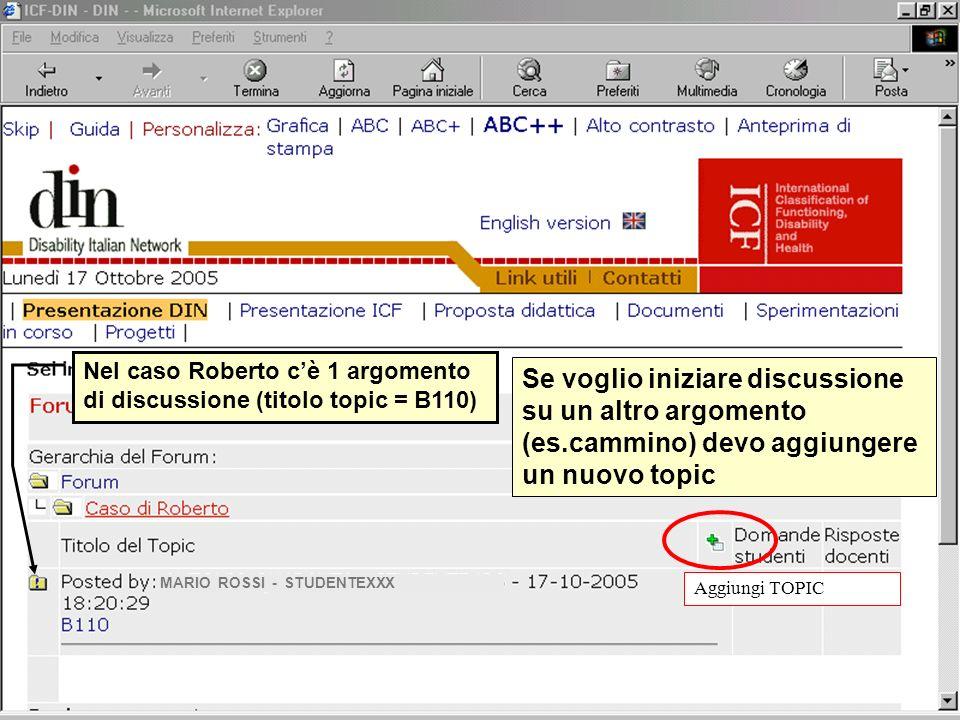 MARIO ROSSI - STUDENTEXXX GINO BIANCHI - STUDENTEYYY Se clicco sopraCaso di Roberto…………...