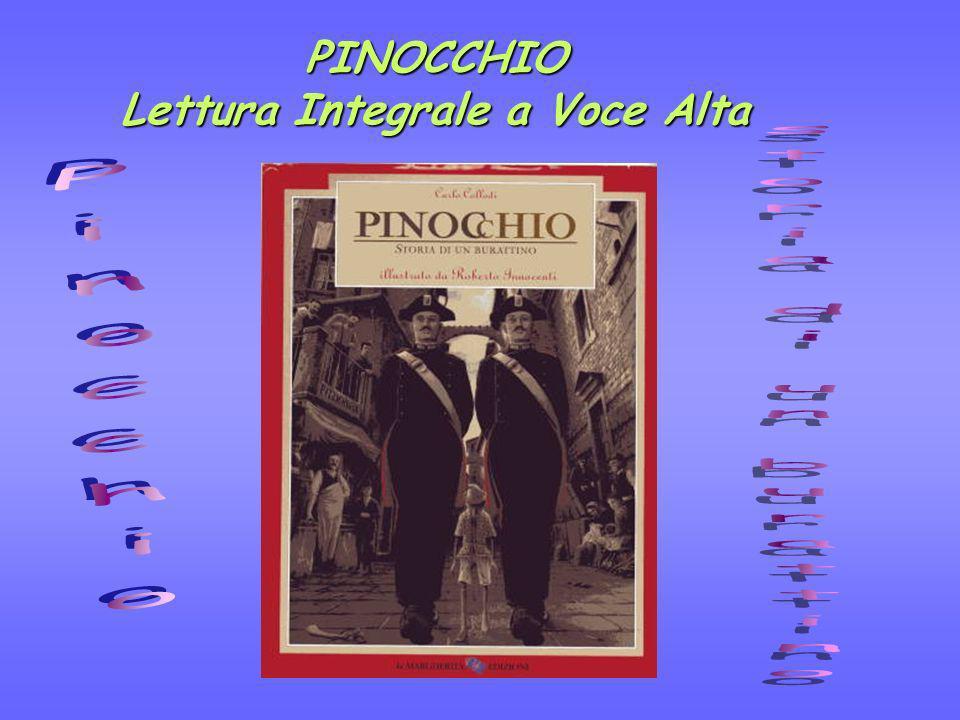La classe IV B della scuola primaria è impegnata nella lettura integrale a puntate di Pinocchio di Carlo Collodi, illustrato da R.
