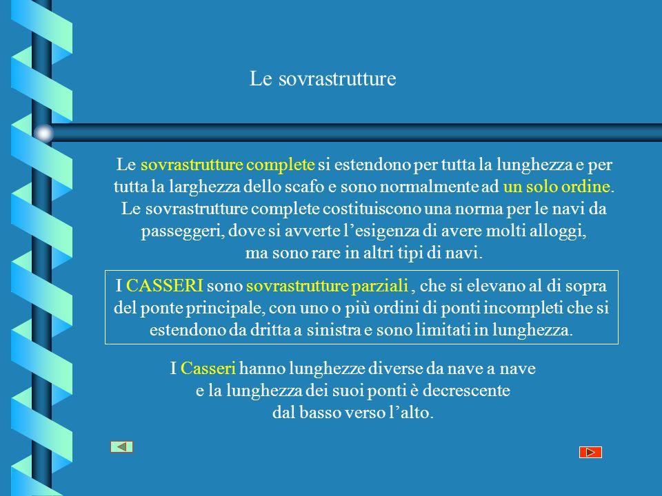 Classificazione delle navi secondo le sovrastrutture Nave con Cassero centrale e Cassero poppiero