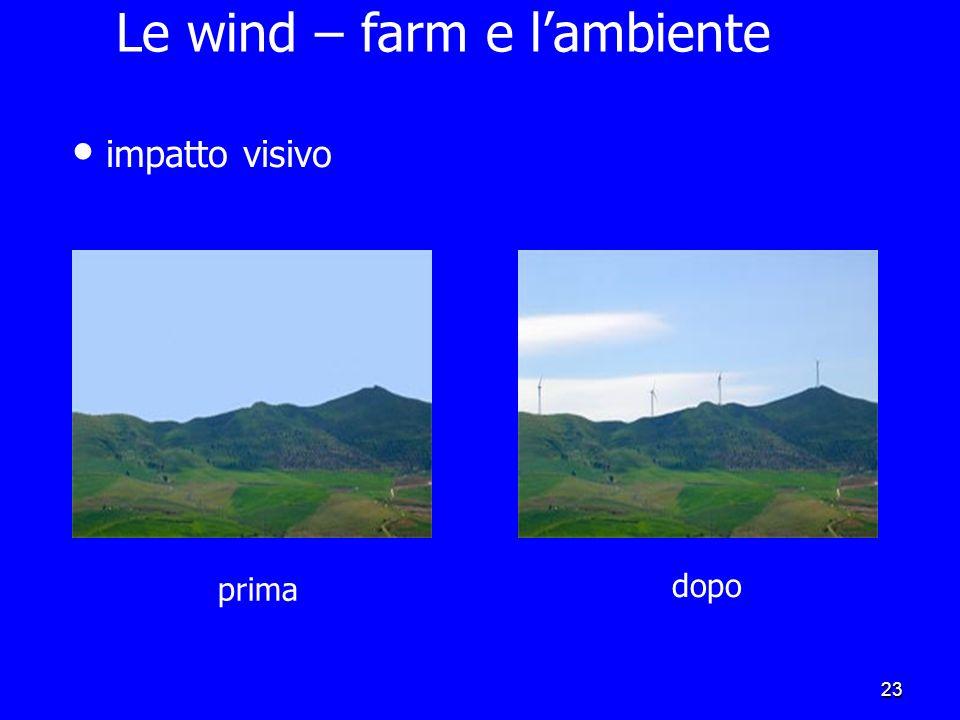 22 Sicilia:la più grande centrale eolica italiana E al secondo posto tra le regioni italiane Dalle venti grandi centrali installate arrivano circa 4 m