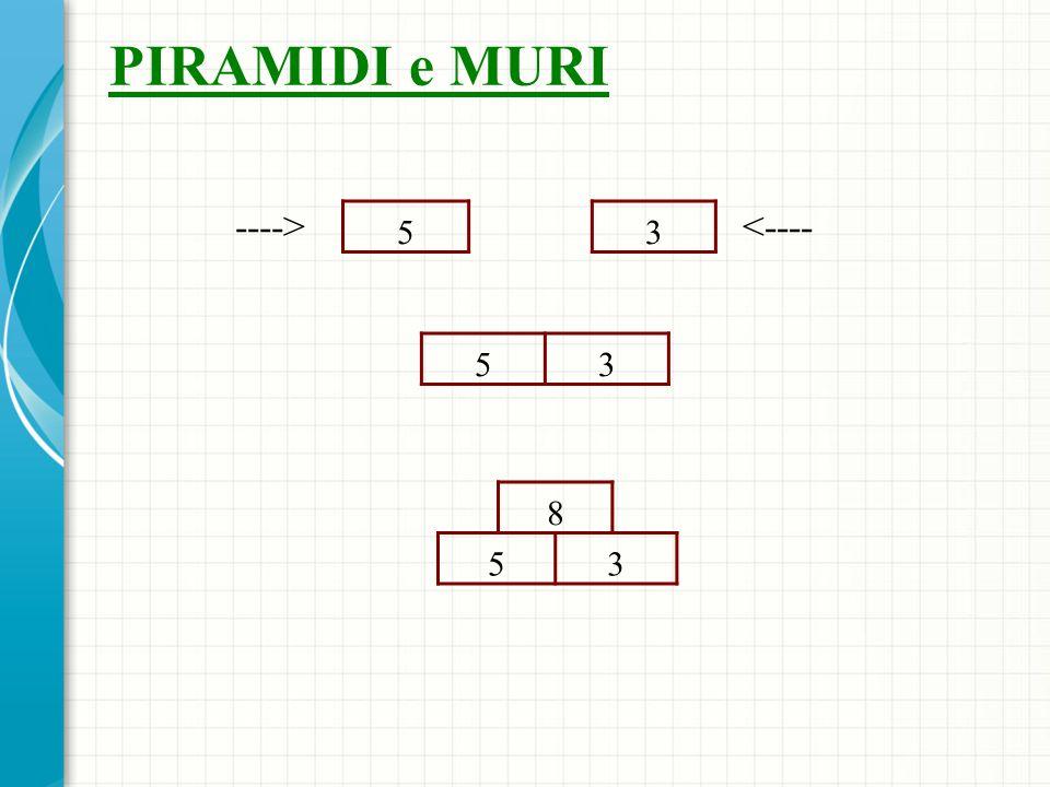 PIRAMIDI e MURI ----> 5 3 <---- 5 3 8 5 3
