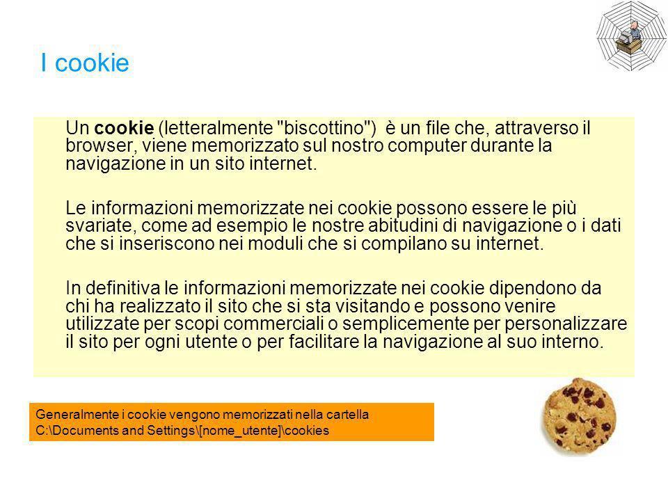 I cookie Un cookie (letteralmente