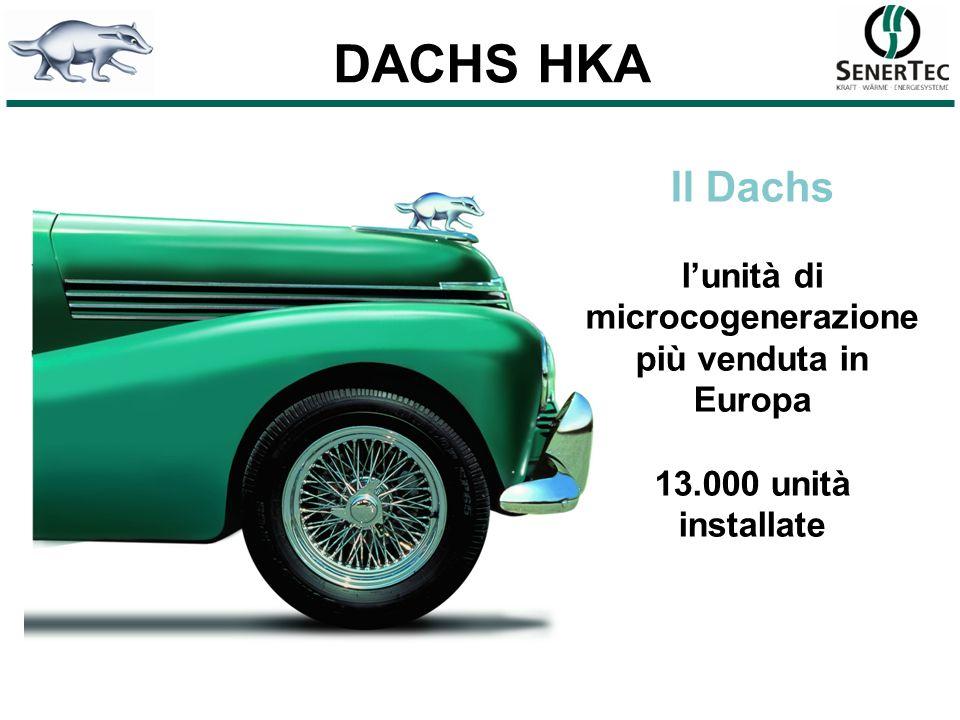 DACHS HKA Il Dachs lunità di microcogenerazione più venduta in Europa 13.000 unità installate
