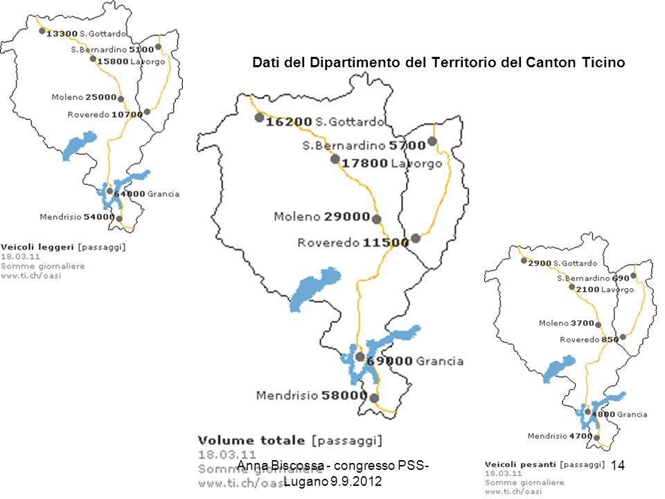 Dati del Dipartimento del Territorio del Canton Ticino Anna Biscossa - congresso PSS- Lugano 9.9.2012 14