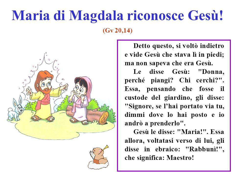 Maria di Magdala riconosce Gesù.