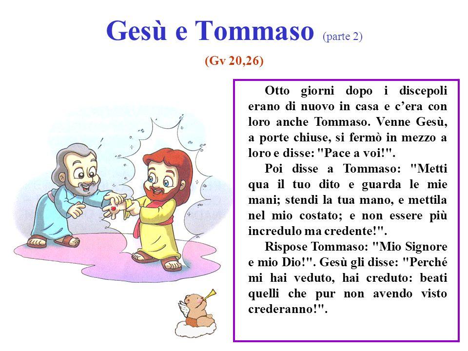 Gesù e Tommaso (parte 2) (Gv 20,26) Otto giorni dopo i discepoli erano di nuovo in casa e cera con loro anche Tommaso.