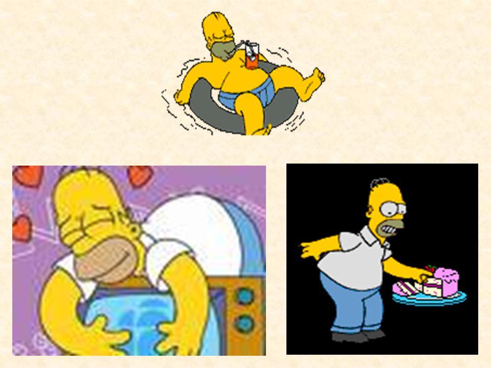 Homer:principali caratteristiche Egocentrico e spesso mette il proprio interesse al di sopra di quello della sua famiglia. Ingordo nel senso che pur d