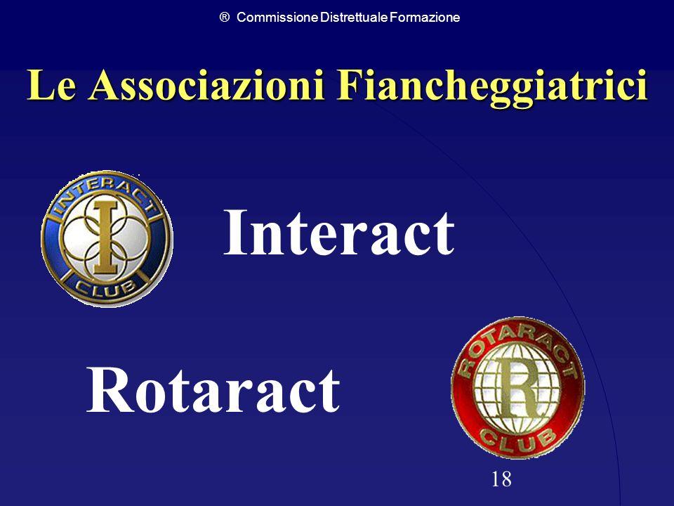 ® Commissione Distrettuale Formazione 18 Le Associazioni Fiancheggiatrici Interact Rotaract