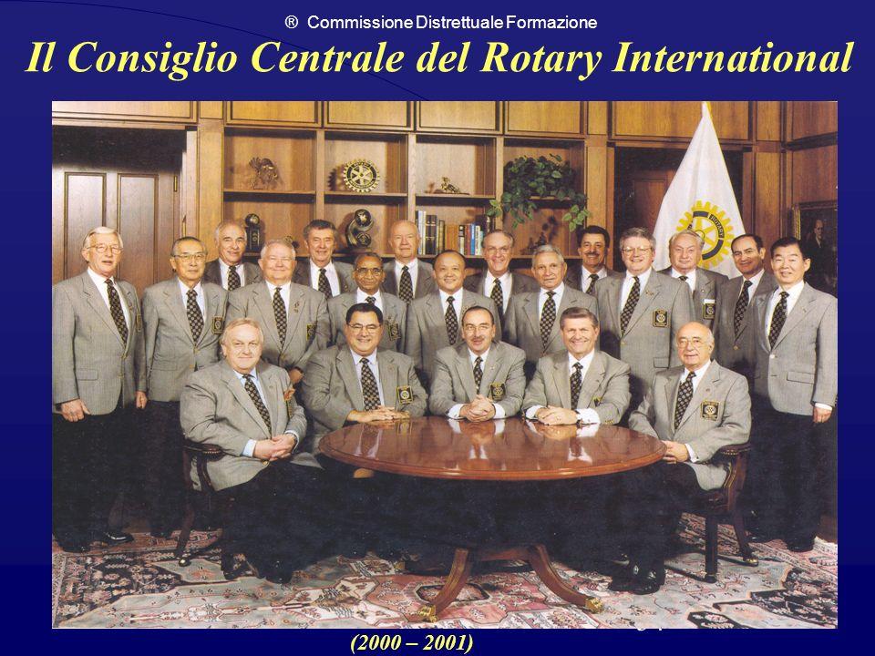 ® Commissione Distrettuale Formazione 54 Il Consiglio Centrale del Rotary International (2000 – 2001)