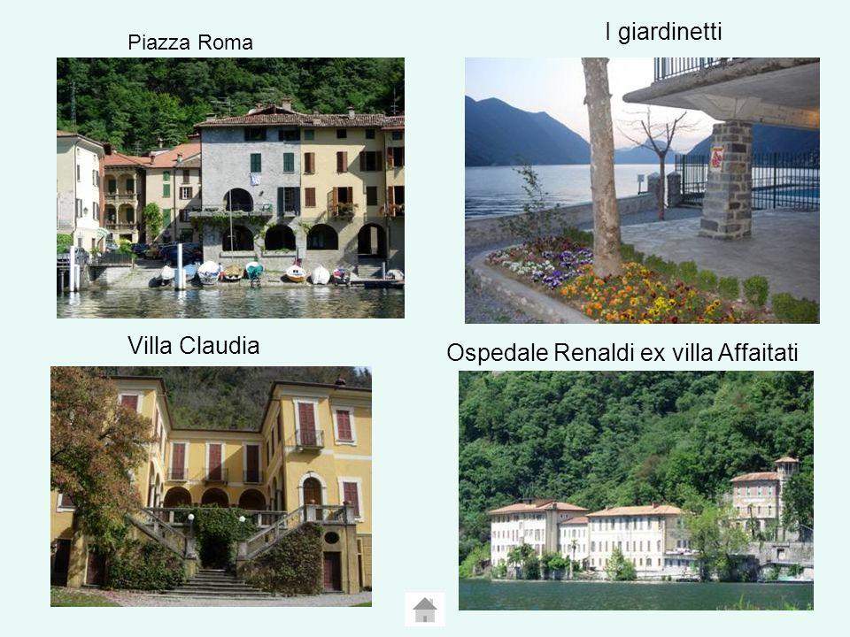 Piazza Roma I giardinetti Villa Claudia Ospedale Renaldi ex villa Affaitati