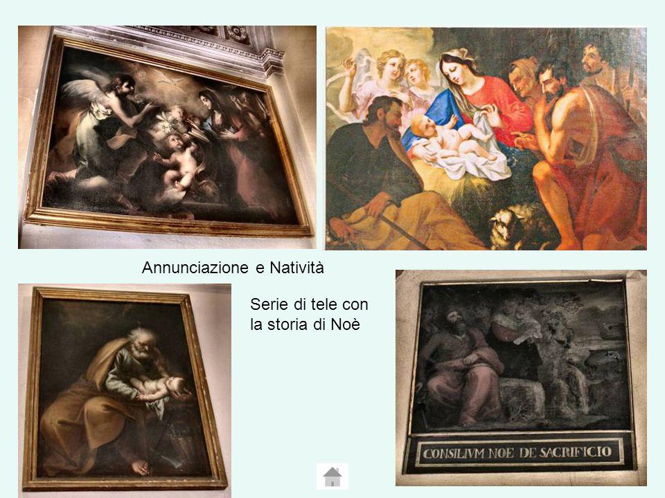 Annunciazione e Natività Serie di tele con la storia di Noè