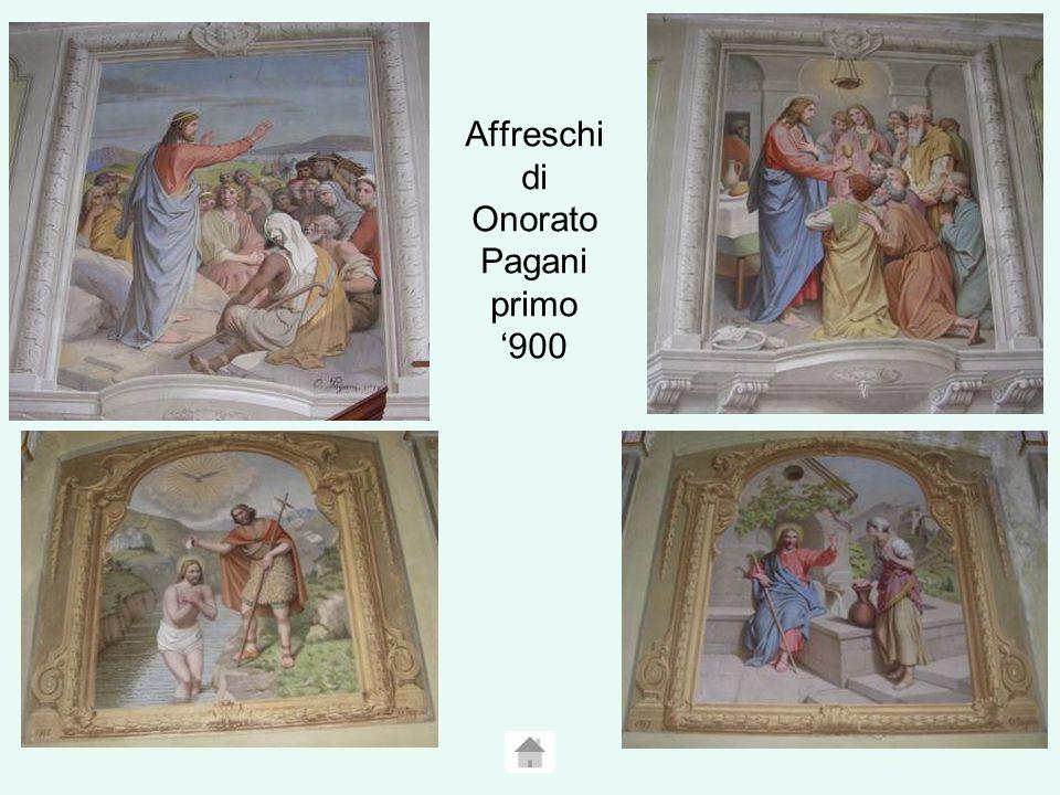 Affreschi di Onorato Pagani primo 900