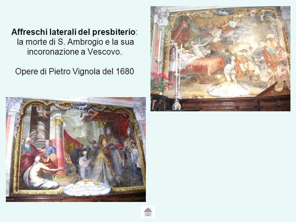 Affreschi laterali del presbiterio: la morte di S.