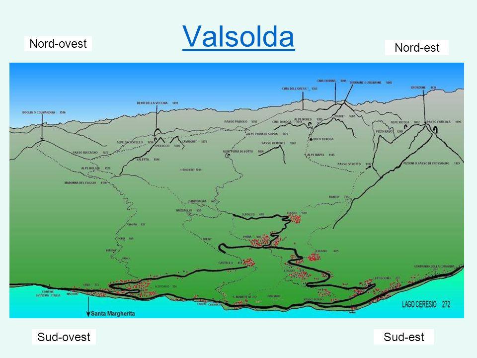Valsolda Nord-ovest Sud-ovest Nord-est Sud-est