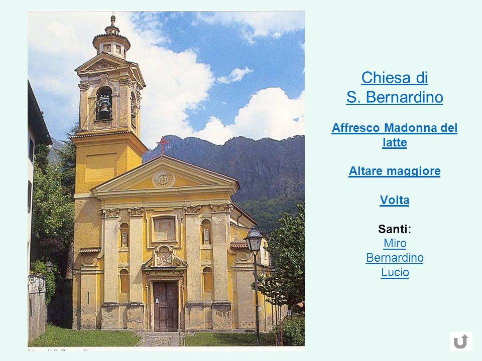 Chiesa di S.Bernardino Affresco Madonna del latte Altare maggiore Volta Chiesa di S.