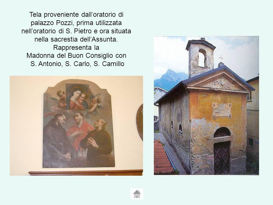 Tela proveniente dalloratorio di palazzo Pozzi, prima utilizzata nelloratorio di S.