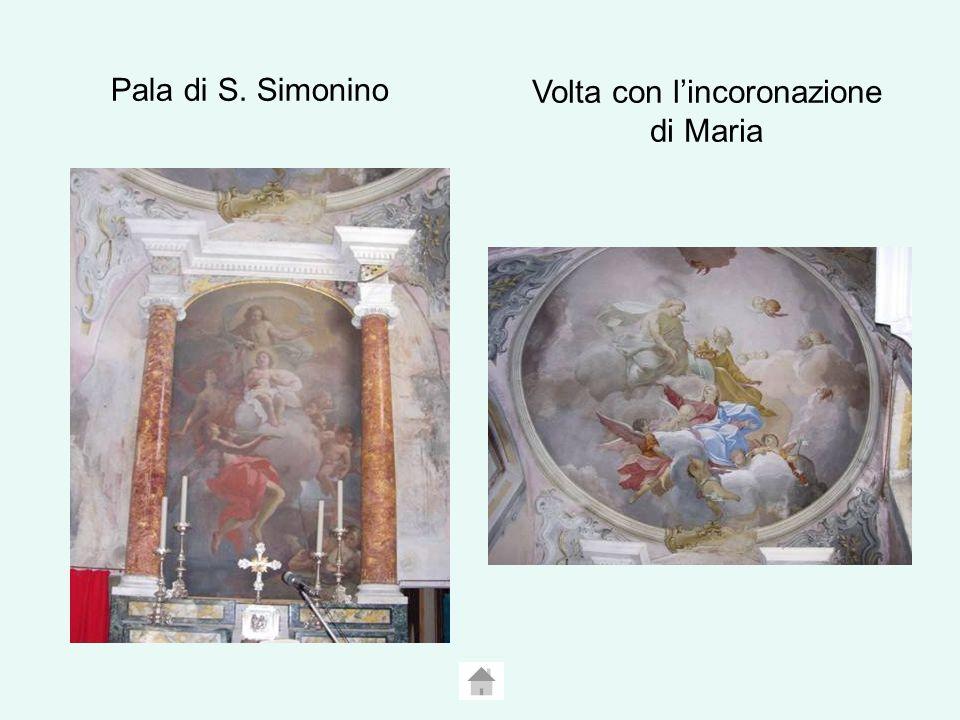 Pala di S. Simonino Volta con lincoronazione di Maria