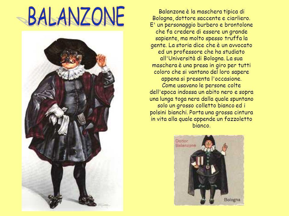 Sandrone è una maschera che nasce in Emilia Romagna.