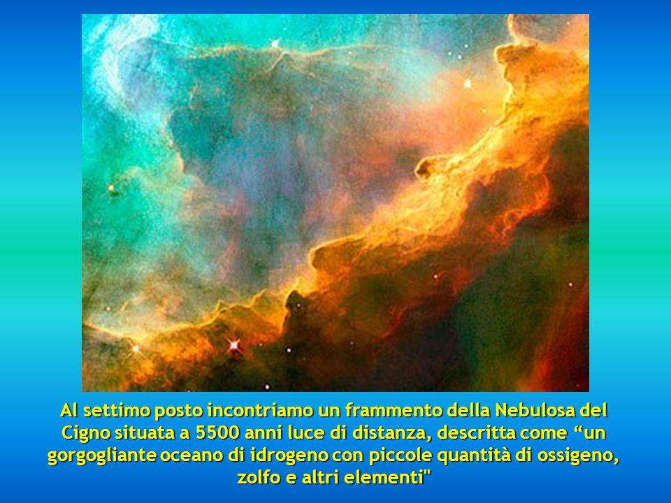 Al sesto posto abbiamo la Nebulosa del Cono, a 2.5 anni luce. Al sesto posto abbiamo la Nebulosa del Cono, a 2.5 anni luce.