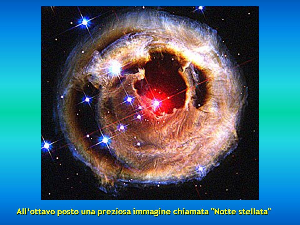 Al settimo posto incontriamo un frammento della Nebulosa del Cigno situata a 5500 anni luce di distanza, descritta come un gorgogliante oceano di idro