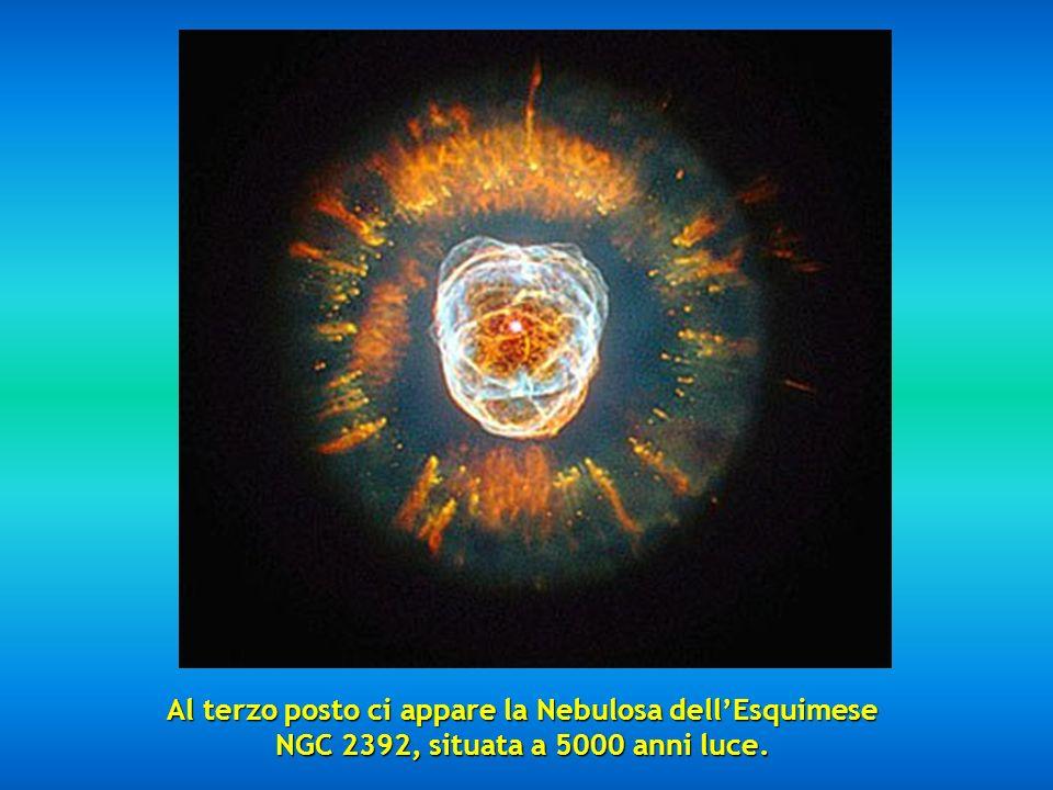 Al secondo posto abbiamo la favolosa Nebula Mz3 chiamata Nebulosa della Formica per laspetto che presenta ai telescopi, situata fra 3000 e 6000 anni l