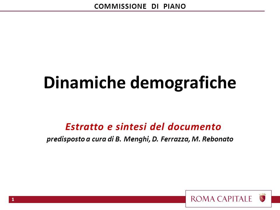 Dinamiche demografiche Estratto e sintesi del documento predisposto a cura di B.