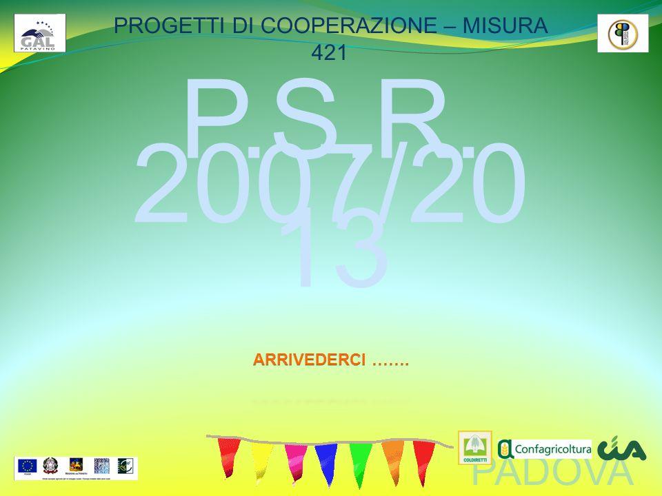 PADOVA PROGETTI DI COOPERAZIONE – MISURA 421 P.S.R. 2007/20 13