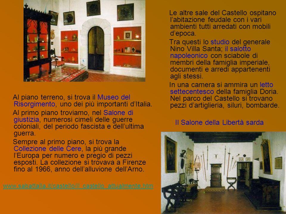 Al piano terreno, si trova il Museo del Risorgimento, uno dei più importanti dItalia. Al primo piano troviamo, nel Salone di giustizia, numerosi cimel