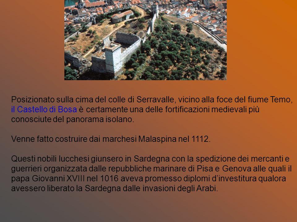 Posizionato sulla cima del colle di Serravalle, vicino alla foce del fiume Temo, il Castello di Bosa è certamente una delle fortificazioni medievali p