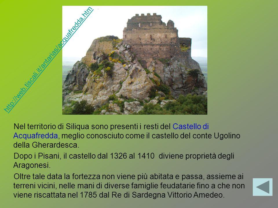 Nel territorio di Siliqua sono presenti i resti del Castello di Acquafredda, meglio conosciuto come il castello del conte Ugolino della Gherardesca. D