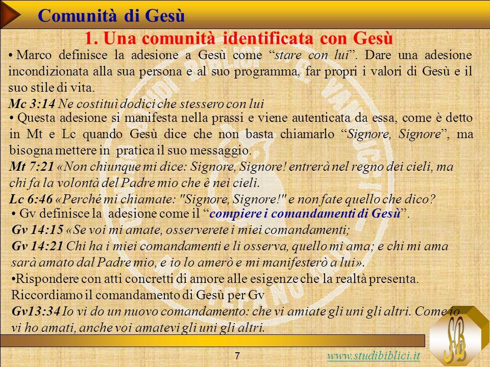 www.studibiblici.it 8 Comunità di Gesù 1.