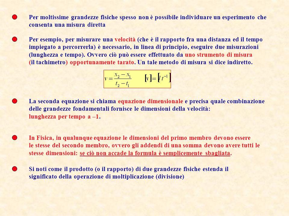 Le grandezze fisiche Esempi di grandezze fisiche sono il volume di un corpo, la sua massa, la sua temperatura, la velocità del suo centro di massa, la